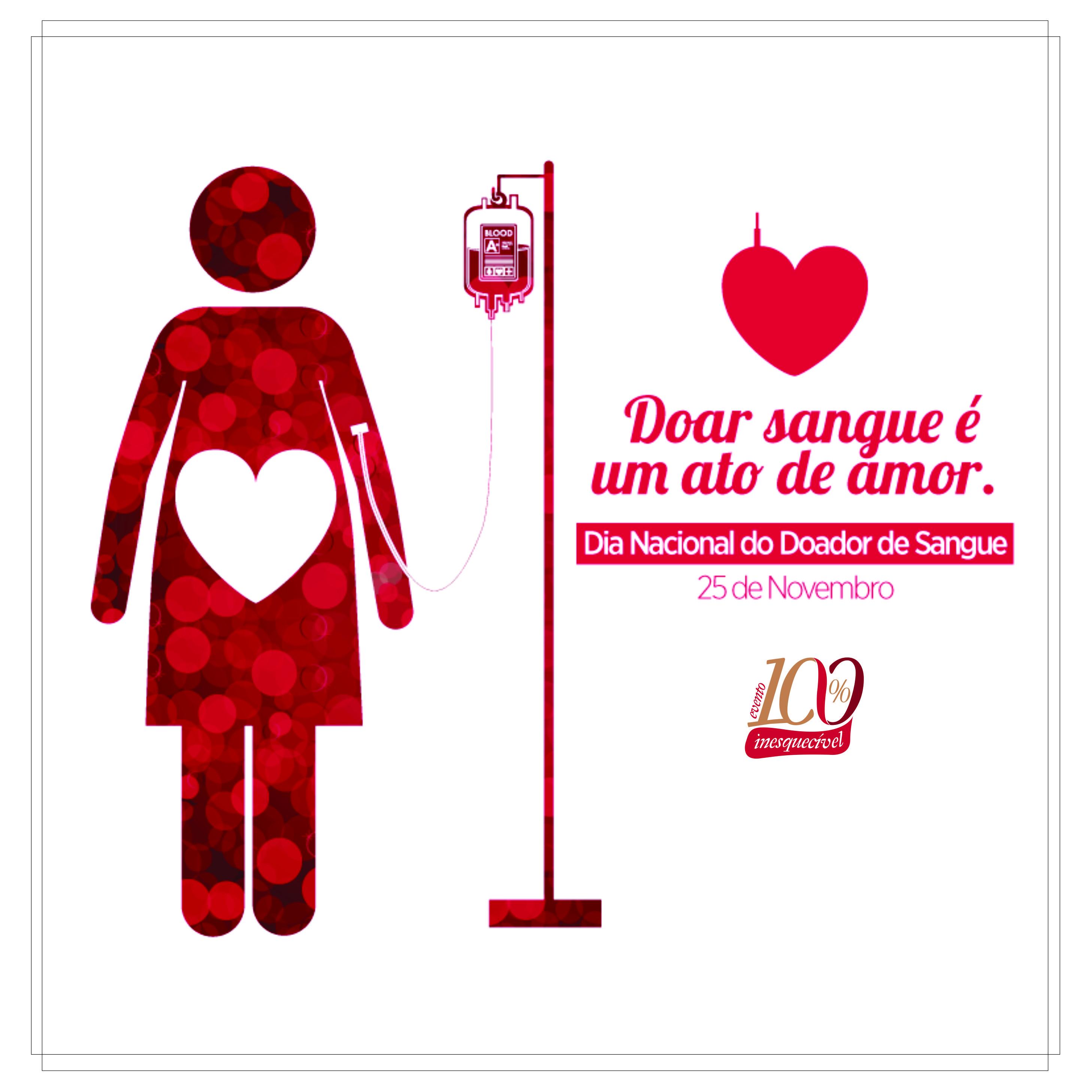25 de novembro – Dia nacional do doador de sangue