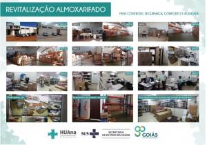 Revitalização do almoxarifado do HUAna proporciona melhor desempenho no setor