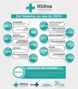 HUAna em números 2016