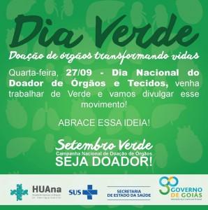 27/09 (Quarta-Feira) – Dia Verde!