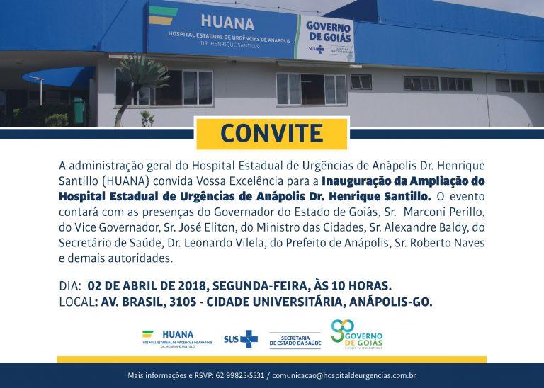 Convite – Inauguração Ampliação HUANA