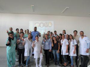 Colaboradores do HUANA participam de palestra sobre a Influenza promovida pela CCIH